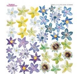 Folie imprimata Sospeso Trasparente 2/14 Little Blue Flowers 1 buc