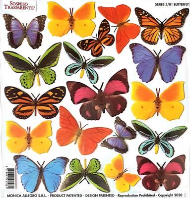 Folie imprimata Sospeso Trasparente 3/01 Butterfly 1 buc