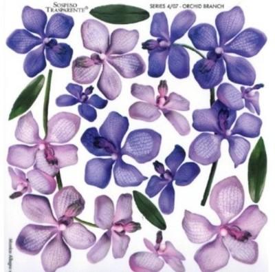 Folie imprimata Sospeso Trasparente 4/07 Orchid Branch 1 buc