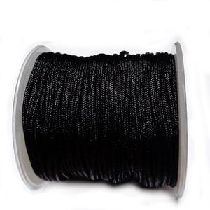 Snur matasos pt. bratari, negru, Dandelion, 1.5mm-bobina cca 30m 1 buc