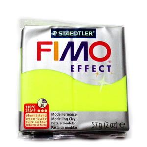 Plastelina fimo effect 57g cod cul 101, galben neon 1 buc