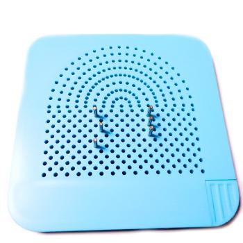 Placa sablon Quilling din material plastic bleu, 105x105x8mm 1 buc