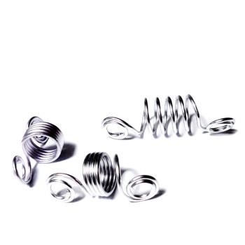 Accesoriu aluminiu cu spirale si 5 bucle pt.ornamente par, 22~23x10mm 1 buc