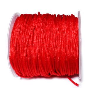 Snur matasos pentru bratari shamballa, rosu, Dandelion, 1.5mm 1 m