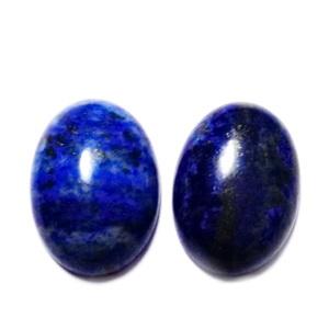Cabochon Lapis Lazuli, 25x18x6~7mm 1 buc