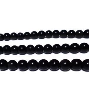Obsidian negru, 6mm 1 buc