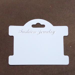 Etichete suport, carton, pt. bijuterii, 75x96x0.5mm 10 buc