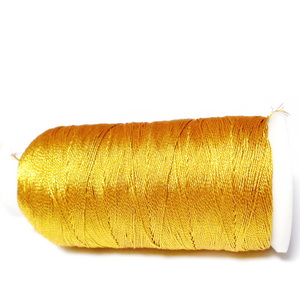 Ata polyester auriu metalizat, 0.6 mm-mosor cca 450 metri 1 buc