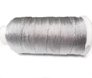 Ata polyester argintiu metalizat, 0.6 mm-mosor cca 450 metri 1 buc
