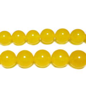 Agata galben-portocalie, 10mm 1 buc