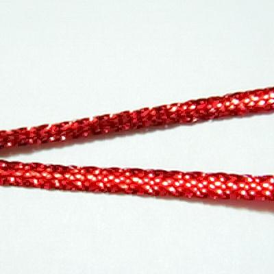 Fir lurex rosu plat, 3 mm 5 m