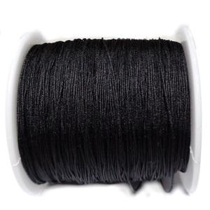Snur Shamballa, negru, grosime 0.5mm 1 m