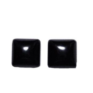 Cabochon agata colorat negru, patrat, 10x10x4.5mm 1 buc