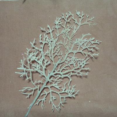 Ornament pt, Craciun, frunza cu glitter roz, 25x20cm + codita 22cm 1 buc