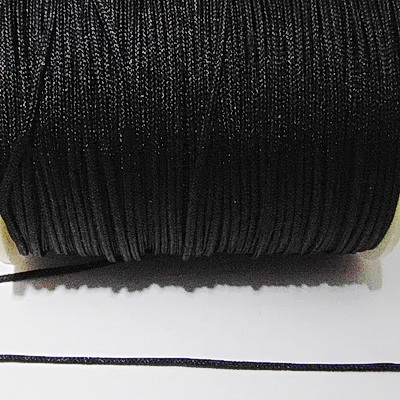Snur matasos pt. bratari, negru, grosime 1.2mm-bobina cca 91m 1 buc