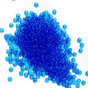 Margele nisip, Rocaille Preciosa 10/0-2.3mm, albastre, transparente 20 g
