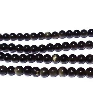 Obsidian auriu, 4mm 1 buc