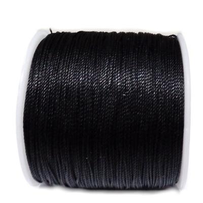 Snur Shamballa, negru, cerat, grosime 0.45mm 1 m