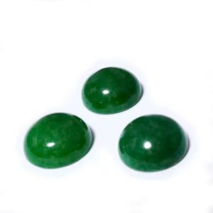 Cabochon jad verde, 10x6.4~4.8mm 1 buc