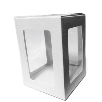 Cutie carton cu fereastra acetofan, 10x10x14cm 1 buc