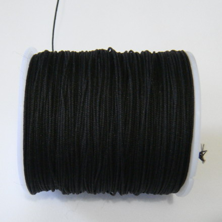 Ata matase neagra 0.8mm, cu interior nylon-bobina cca 91m 1 buc
