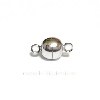 Inchizatoare magnetica, argintiu inchis, 14x8mm 1 buc
