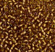 Margele TOHO - rotunde 11/0 : Gold-Lined Rainbow Topaz 20 g