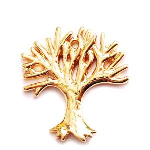 Pandantiv metalic, placat cu aur, copacul vietii, 18x16.5x1mm 1 buc