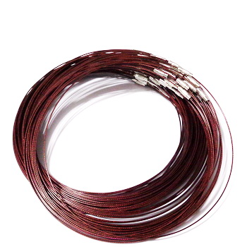 Baza colier, sarma siliconata, bordo, cu inchizatoare 1 buc