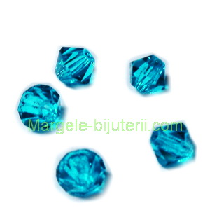 Margele Preciosa biconice Blue Zircone - 4mm 1 buc