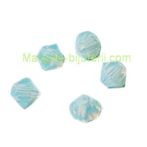 Margele Preciosa biconice Chrysolite Opal  - 4mm 1 buc