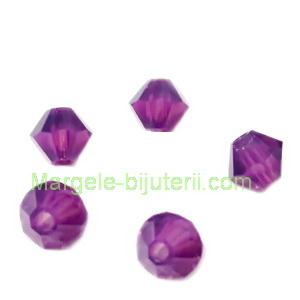 Margele Preciosa biconice Amethyst Opal - 4mm 1 buc