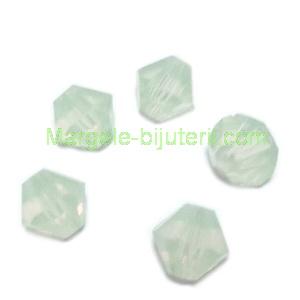 Margele Preciosa biconice Chrysolite Opal - 6mm 1 buc