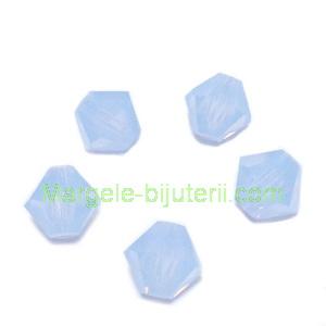Margele Preciosa biconice Light Sapphire Opal - 6mm 1 buc