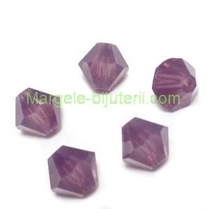 Margele Preciosa biconice Amethyst Opal - 6mm 1 buc