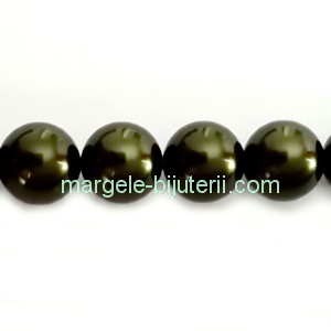 Perle Preciosa Dark Green 10mm 1 buc
