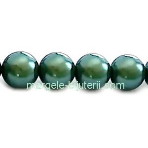 Perle Preciosa Pearlescent Green 12mm 1 buc