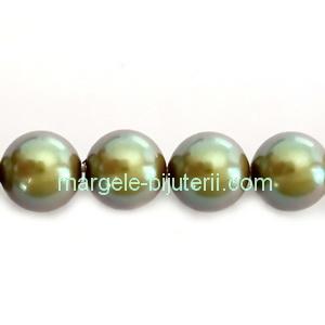 Perle Preciosa Pearlescent Khaki 12mm 1 buc