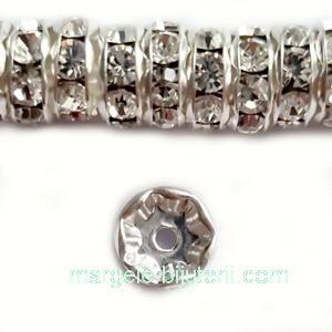 Margele Preciosa rondel Crystal - 8mm 1 buc