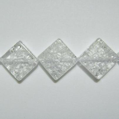 Cristal de gheata, rombic, 12x12mm 1 buc