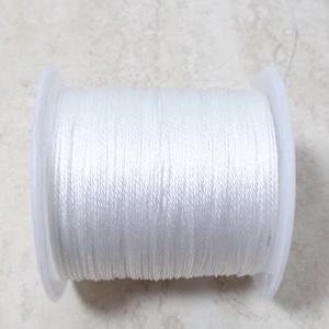 Ata polyester, alb metalic, 0.4mm-bobina 45m 1 buc