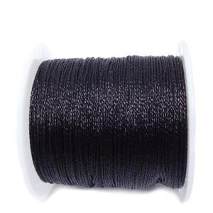 Ata polyester, negru metalic, 0.4mm-bobina 45m 1 buc