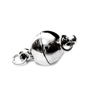 Inchizatoare magnetica, argintiu inchis, 19x12mm cu zala simpla de 6x0.7mm 1 buc