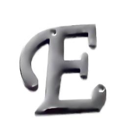 Conector / link otel inoxidabil 304, litera E, 15x15x1.5mm 1 buc