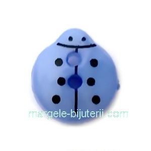 Nasturi plastic albastru, gargarita  13x12x4.5mm 1 buc