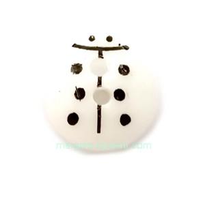 Nasturi plastic alb, gargarita  13x12x4.5mm 1 buc