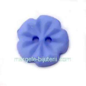 Nasturi plastic albastra, floare 15x2.5mm 1 buc
