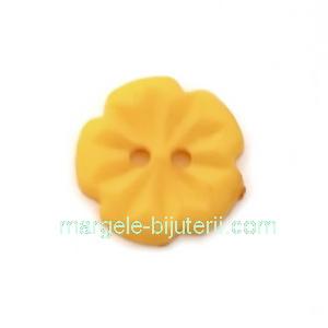 Nasturi plastic portocaliu, floare 15x2.5mm 1 buc