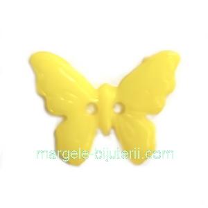 Nasturi plastic galben, fluturas 17x22.5x2mm 1 buc