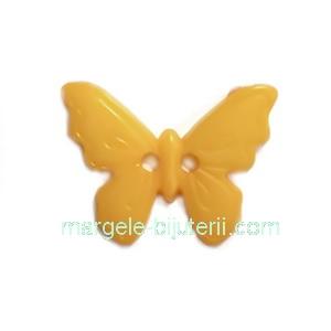 Nasturi plastic portocaliu, fluturas 17x22.5x2mm 1 buc